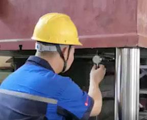 四柱能液压机检测视频