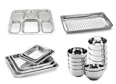 304不锈钢餐具成型液压机的应用